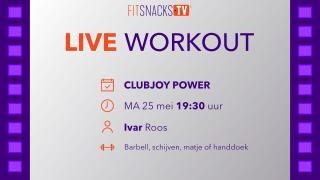 LIVE ClubJoy Power met Ivar Roos (25/5/2020)