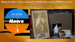 "Stevie Ray Vaughan's 1964 Fender Vibroverb, used on David Bowie's ""Let's Dance"",  up for sale"
