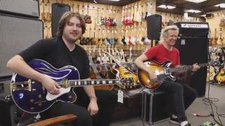 1991 Gibson L-5 Blue Custom Sparkle & 1968 Gibson EB-2 Bass