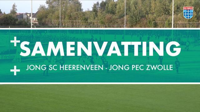 Samenvatting Jong sc Heerenveen - Jong PEC Zwolle