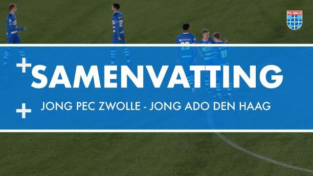 Samenvatting Jong PEC Zwolle - Jong ADO Den Haag