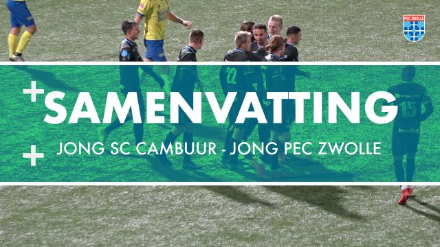 Samenvatting Jong sc Cambuur - Jong PEC Zwolle