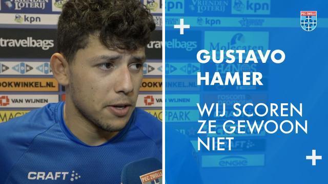 Gustavo Hamer: 'Wij scoren ze gewoon niet.'