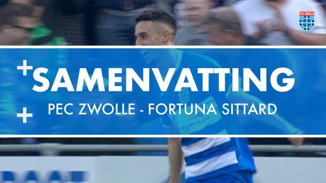 Samenvatting PEC Zwolle - Fortuna Sittard