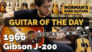 Norman's Rare Guitars  |  Guitar of the Day  |  1966 Gibson J-200 Sunburst  |  Norman's Rare Guitars