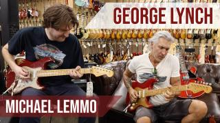 George Lynch jamming with Michael Lemmo at Norman's Rare Guitars
