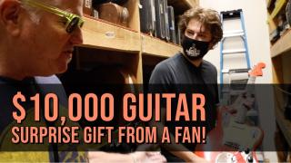 MUST WATCH! $10,000 guitar gifted to Michael Lemmo from a fan at Norman's Rare Guitars