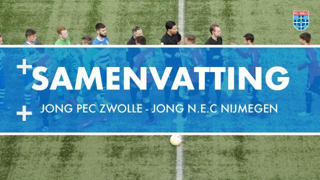 Samenvatting Jong PEC Zwolle - Jong N.E.C Nijmegen