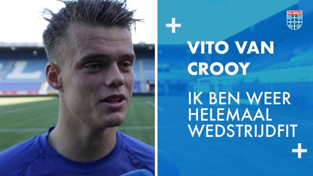 Vito van Crooy: 'Ik ben weer helemaal wedstrijdfit.'