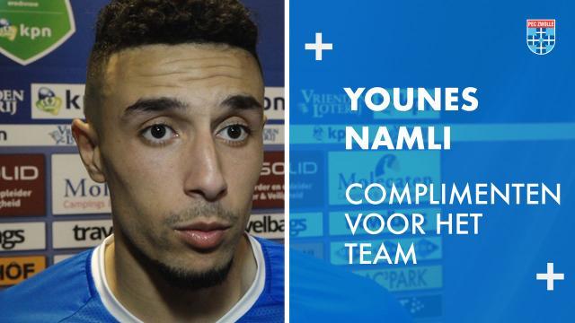 Younes Namli: 'Complimenten voor het team.'