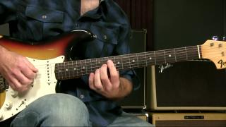 Griff Hamlin Lessons: Blues Rhythm Guitar Lesson The I IV I7 Move