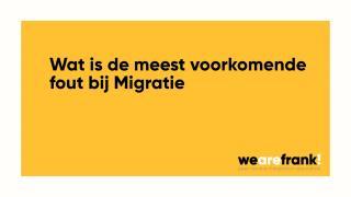 De meest voorkomende fout bij migratie?