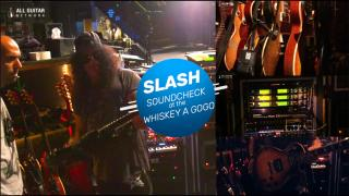 Sound check at the Whiskey with Slash