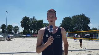 Beachvolleybal Team Nederland traint in Harderwijk