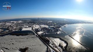Paramotor Ice edition - epic beelden van Harderwijk