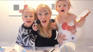 ZUSJES DOEN MAMA MAKE-UP CHALLENGE  | Bellinga Vlog #1938