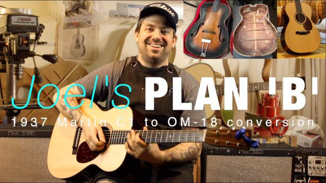 Joel's Plan B: 1937 Martin C1 conversion to OM18