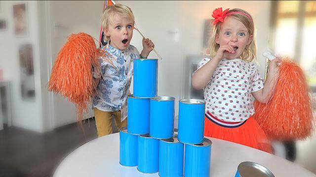 BALLEN GOOiEN CHALLENGE  ( koningsspelen 2019) | Bellinga Familie Vloggers #1335