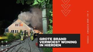 Woningbrand Biesteweg Hierden