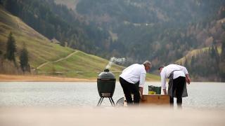 Mini-serie deel 4: René Brienen kookt met Big Green Egg in Zwitserse Alpen