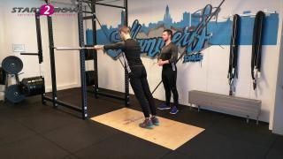 Triceps overhead extension voor thuis