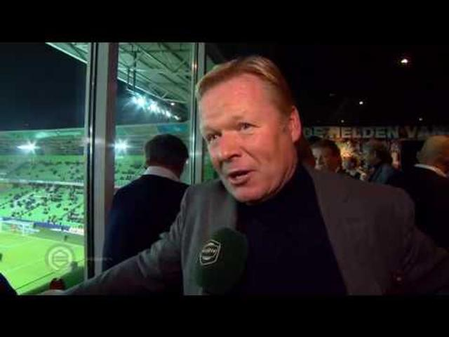 Onthulling Koeman Wall of Fame