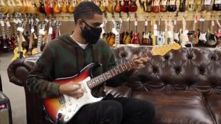 Freaky Rob playing a 1965 Fender Stratocaster
