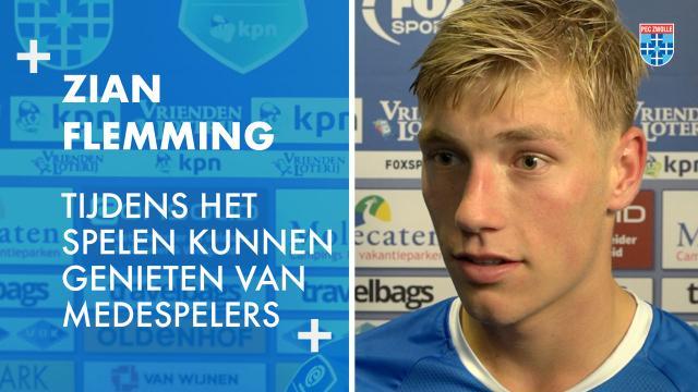 Zian Flemming: 'Tijdens het spelen kunnen genieten van medespelers.'