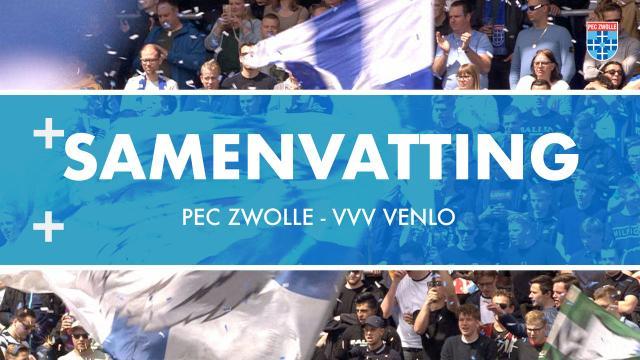 Samenvatting PEC Zwolle - VVV Venlo