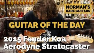 Norman's Rare Guitars: Guitar of the Day: 2015 Fender Koa Aerodyne Stratocaster