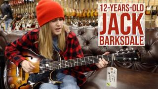 12-year-old Jack Barksdale playing a 1955 Gibson ES-140 3/4 at Norman's Rare Guitars