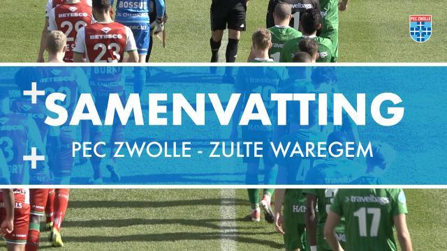 Samenvatting PEC Zwolle - Zulte Waregem