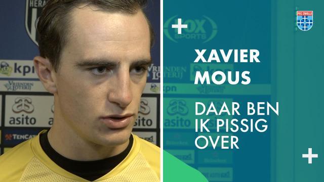 Xavier Mous: 'Daar ben ik pissig over.'