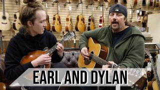Earl & Dylan playing a 1975 Martin D-12-28 & Early Gibson A-Style Mandolin at Norman's Rare Guitars