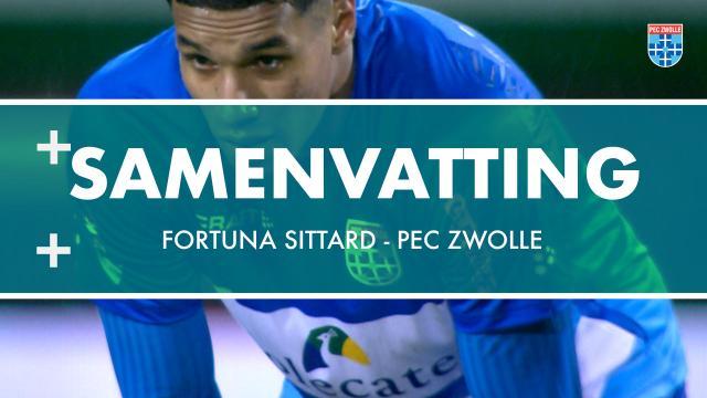 Samenvatting Fortuna Sittard - PEC Zwolle
