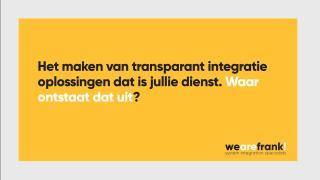 WeAreFrank! - Waar ontstaat een transparant migratieplatform