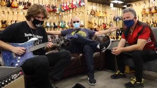 Joe Bonamassa & Frank Stallone Signs a Frank Stallone Guitar Tigress For the The Midnight Mission