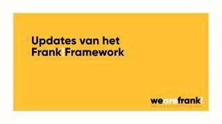 Updates in en van het Frank!Framework