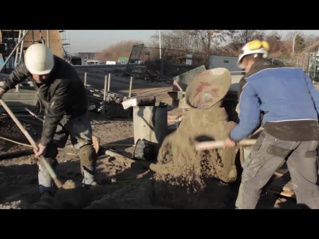 Studenten bouwen huizen in Stadshagen