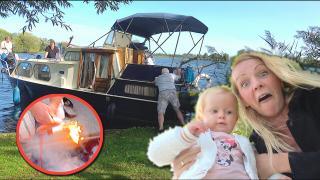 HELP! BRAND OP BOOT VAN OMA & OPA  | Bellinga Vlog #1862
