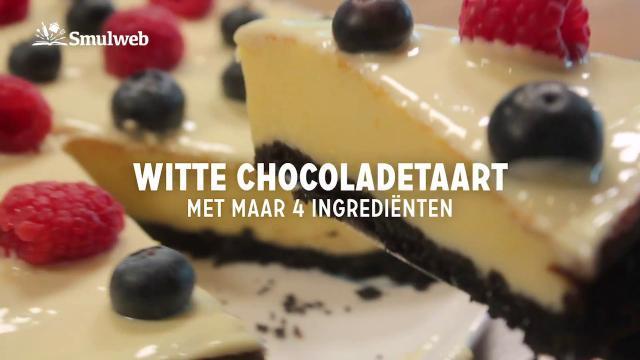 Witte chocoladetaart