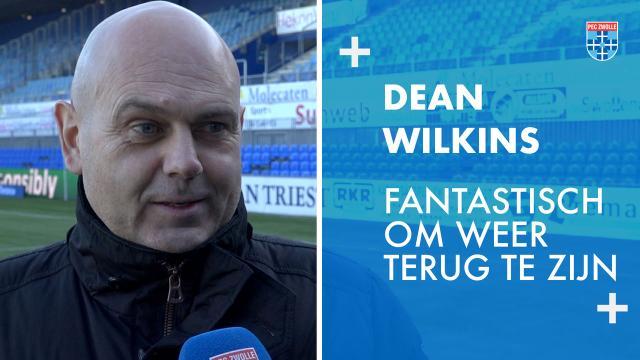 Dean Wilkins te gast tijdens PEC Zwolle - FC Utrecht