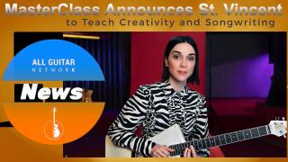 Oct 15th, 2020: MasterClass Announces St. Vincent to Teach Creativity and Songwriting.