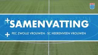 Samenvatting PEC Zwolle Vrouwen - sc Heerenveen Vrouwen