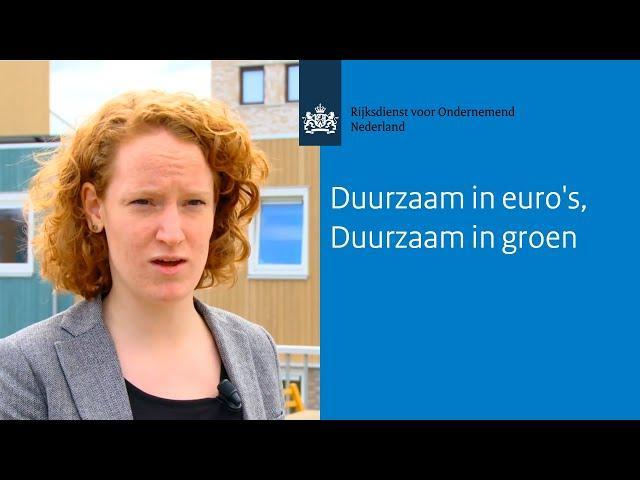 Duurzaam in euro's, duurzaam in groen