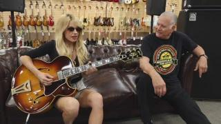 Orianthi gets a 1966 Gibson Super 400 from Bobby at Norman's Rare Guitars.