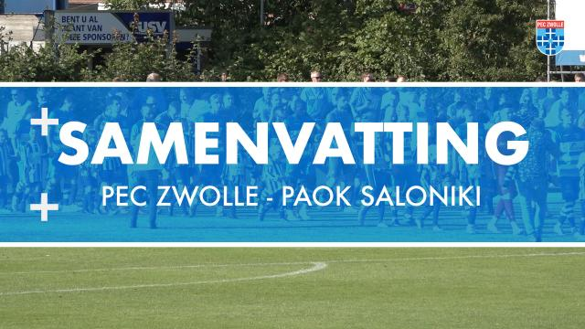 Samenvatting PEC Zwolle - PAOK Saloniki