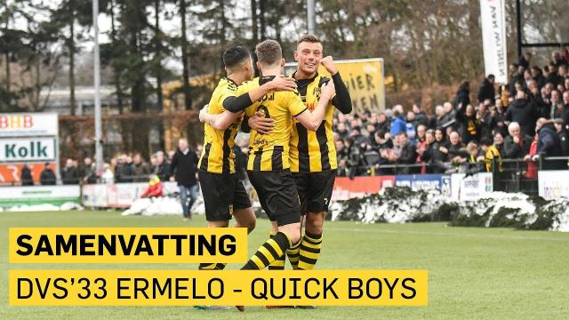 DVS'33 Ermelo - Quick Boys: 3-0