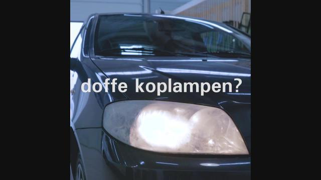 Doffe koplampen - Autotaalglas