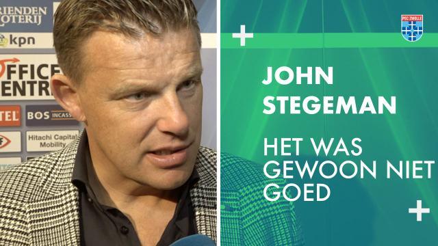 John Stegeman: 'Het was gewoon niet goed.'